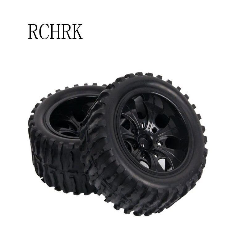2pcs rubber wheel big tires Monster Truck tire diameter 115mm Hexagon combined with 12mm HSP 1:10 94111 94188
