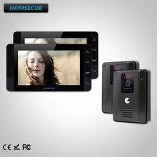 HOMSECUR 7 «Видеодомофон Система Телефонного Звонка + Открытый Мониторинг для Дома/Квартиры TC011-B + TM703-B