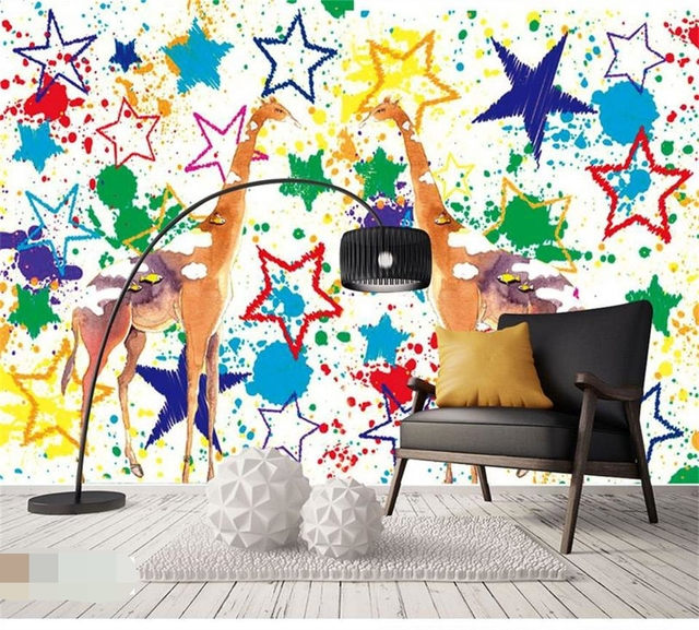 Wallpaper Custom Photo Kids Room Mural Hand Painted