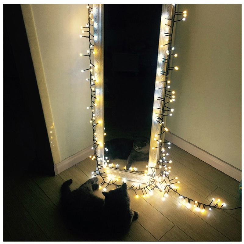 HUSUYUHU SISI 400 LED Waterproof Plug In String Fairy Light with Eight Modes String Light  Patio Decoration  Solar Rope Lights