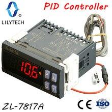 ZL 7817A, PID בקר טמפרטורה, תרמוסטט, עם משולב SSR, 100 240Vac אספקת חשמל, CE, ISO, lilytech