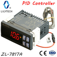 ZL 7817A, PID temperature controller, thermostat, with Integrated SSR, 100 240Vac power supply, CE, ISO, Lilytech