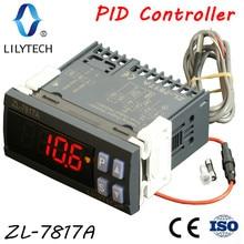 ZL 7817A, controlador de temperatura PID, termostato, con SSR integrado, fuente de alimentación 100 240Vac, CE, ISO, Lilytech
