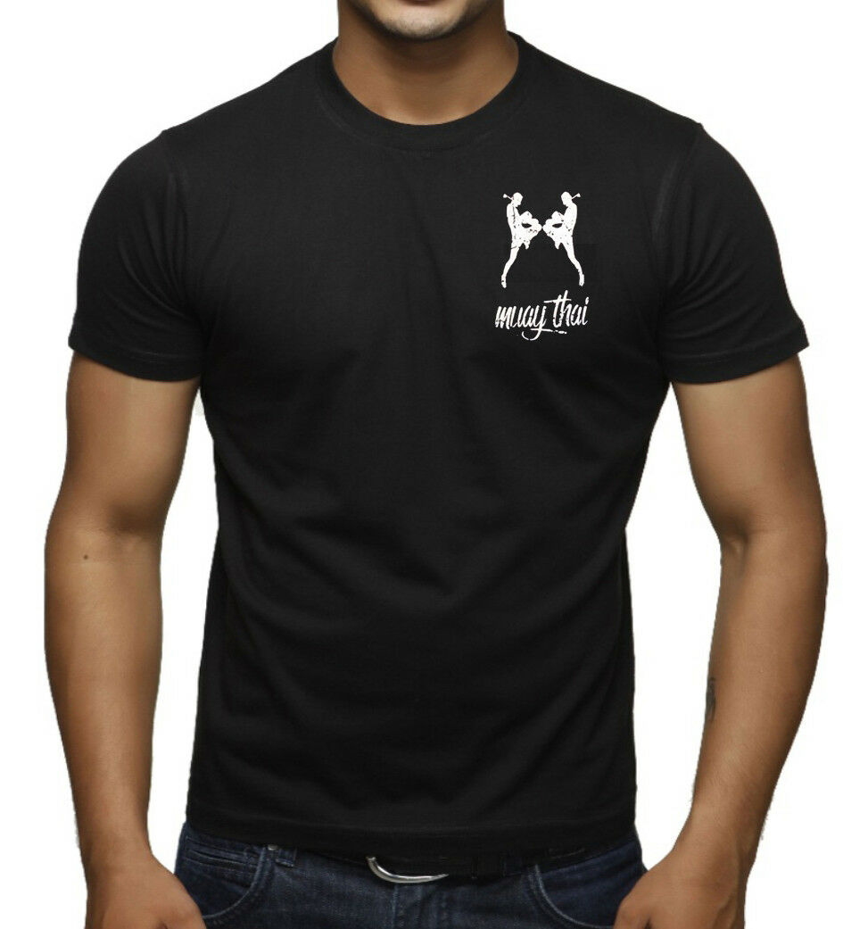 2019 Fashion Men'S Mma Muay Thai Figures Black T Shirt Fighting Karate Kickboxing Judo Choke Unisex Tee