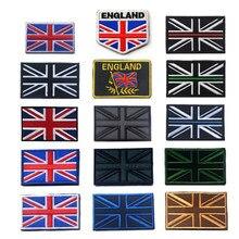 de48455cd50d Британский флаг вышивка нашивка на нарукавную повязку армии тактика нашивка  с надписью личность одежда сумка деним