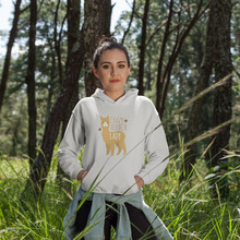Goat Hoodie Crazy Alpaca Lady Hoodies Sexy Street wear Women Long-sleeve Plus Size White Cotton Graphic Pullover