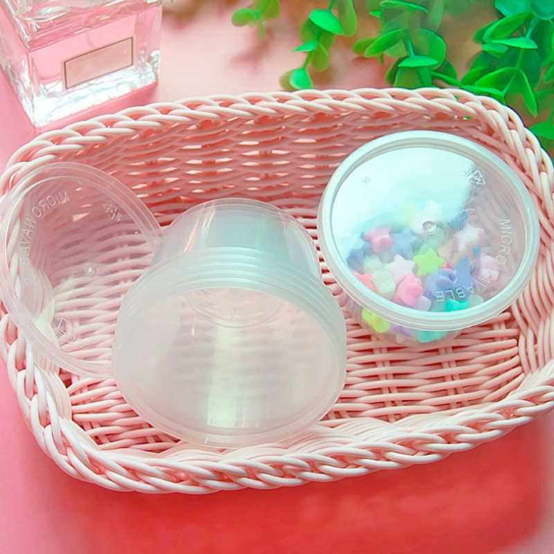 100ml PP Storage Container Organizer Box Sauce Pot Jello Shot Cup With Lid For Foam Slime Mud Light Clay