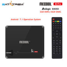 MECOOL KI Pro smart tv set top box Android DVB T2/C S905D DDR4 2.4G/5G WiFi H.265 HD 4K DVB S2 prefix Media Player pk kii pro(China)
