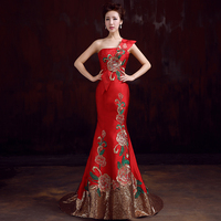 China Wind Embroidery sequined 2018 Women's elegant long gown party proms for gratuating date ceremony gala evenings dresses up3