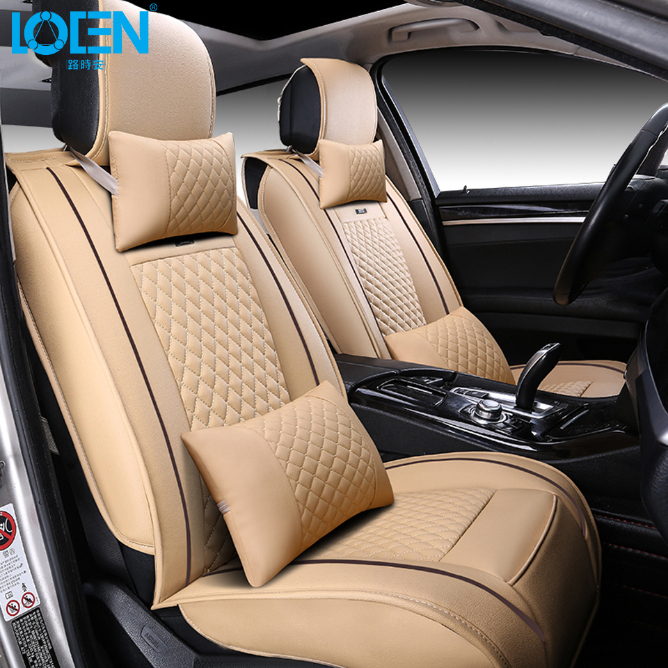 For benz mercedes w203 bmw e46 black waterproof Top Quality Luxury leather car seat cover brand front and rear full seat covers