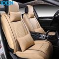 Para mercedes benz w203 bmw e46 negro impermeable de Calidad Superior de Lujo cubierta de asiento de coche de cuero marca delantero y trasero fundas de asiento completo