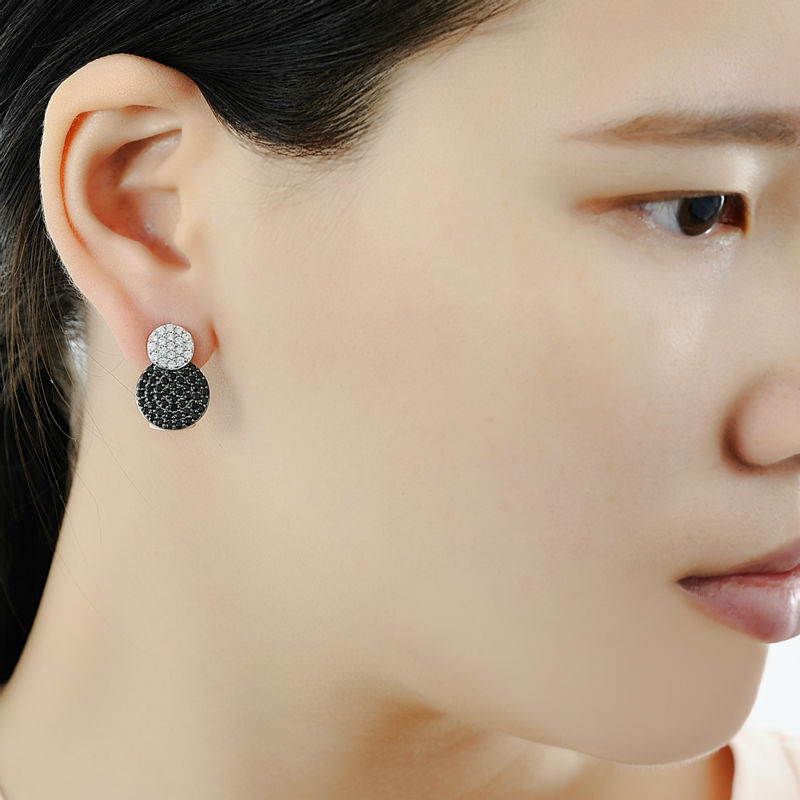 Image 5 - SANTUZZA Jewelry Set For Women Genuine 925 Sterling Silver Unique  Shinny Black CZ Vintage Earrings Pendant Set Fashion Jewelryearring  pendant setjewelry sets for womenpendant set