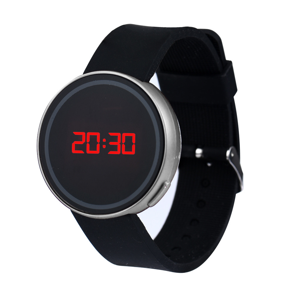 Digital Watch Clock New-Screen Silicone Sports Men Fashion Date LED