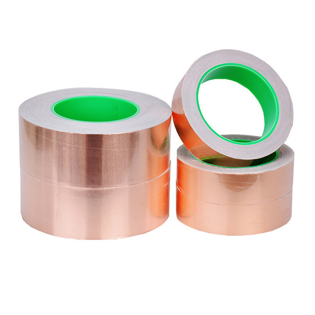 DIY 20M Double Sided Conductive Pure Copper Foil Tape Adhesive Shielding Tape Antenna Signal Enhancement 4/5/6mm 2