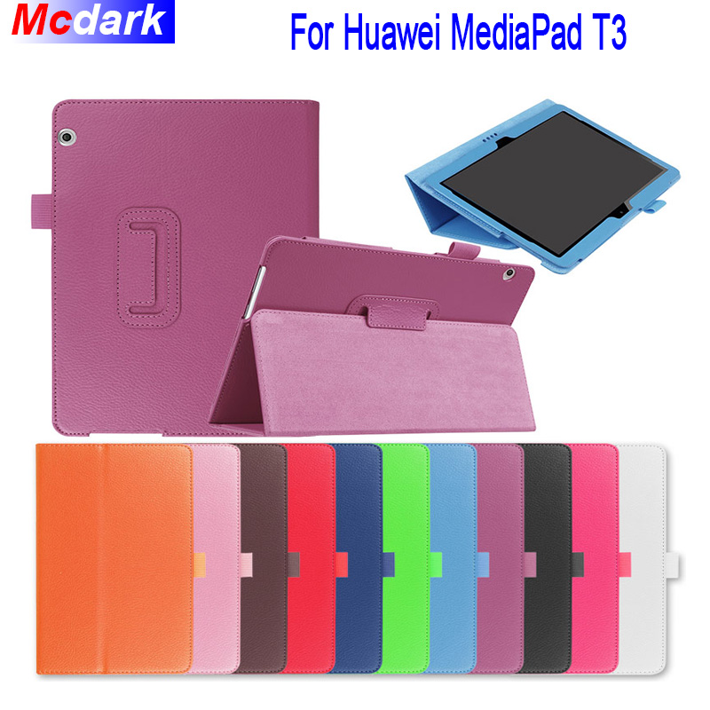 Mcdark For Huawei Media Pad MediaPad T3 10 AGS-WO9 AGS-L09 9.6 inch Honor Play Pad 2 Cases Leather Silk Texture Tablet CoverMcdark For Huawei Media Pad MediaPad T3 10 AGS-WO9 AGS-L09 9.6 inch Honor Play Pad 2 Cases Leather Silk Texture Tablet Cover