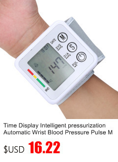 Gustala Automatic Digital Sphygmomanometer Wrist Cuff Arm Blood Pressure Monitor Meter Gauge Measure Portable Bracelet Device 8