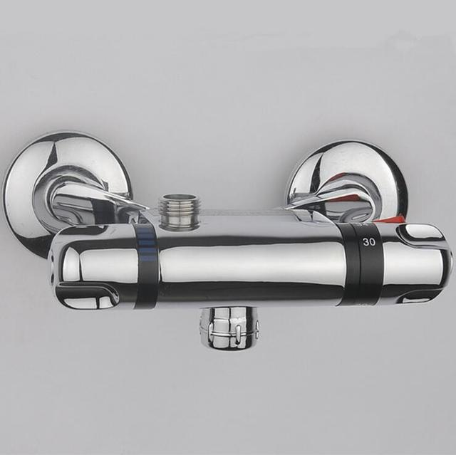 Bathroom thermostatic faucet mixer water tap, Copper shower faucet ...