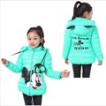 Girls winter coat outerwear cotton winter hooded coats Kid Winter jacket children winter clothing Girls Down & Parkas 30#