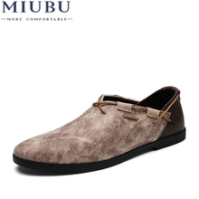 MIUBU Men Casual Shoes 2019 Spring Breathable Concise Soft Flat Fashion Mens Loafers Trend style