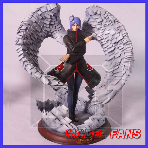 MODEL FANS INSTOCK NARUTO 30cm height Akatsuki Konan gk resin statue figure toy for Collection model fans naruto 30cm height 1 6 akatsuki pain action figure toy for collection