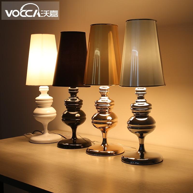White/Black/Silver/Gold Color Josephine Mini Study Table Lamp Modern Simplistic Living Room Light  D180*H520MM Free Shipping