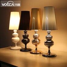 Белый / черный / серебристый / золотой цвет жозефина мини исследование настольная лампа современный упрощенные гостиная свет D180 * H520MM бесплатная доставка