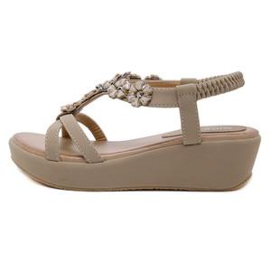 Image 2 - BEYARNEBohemian ฤดูร้อนรองเท้าสตรีดอกไม้ Rhinestone แบนรองเท้าแตะคุณภาพสูงรองเท้าสบายๆพลัสขนาด 35 42 SandaliasE604