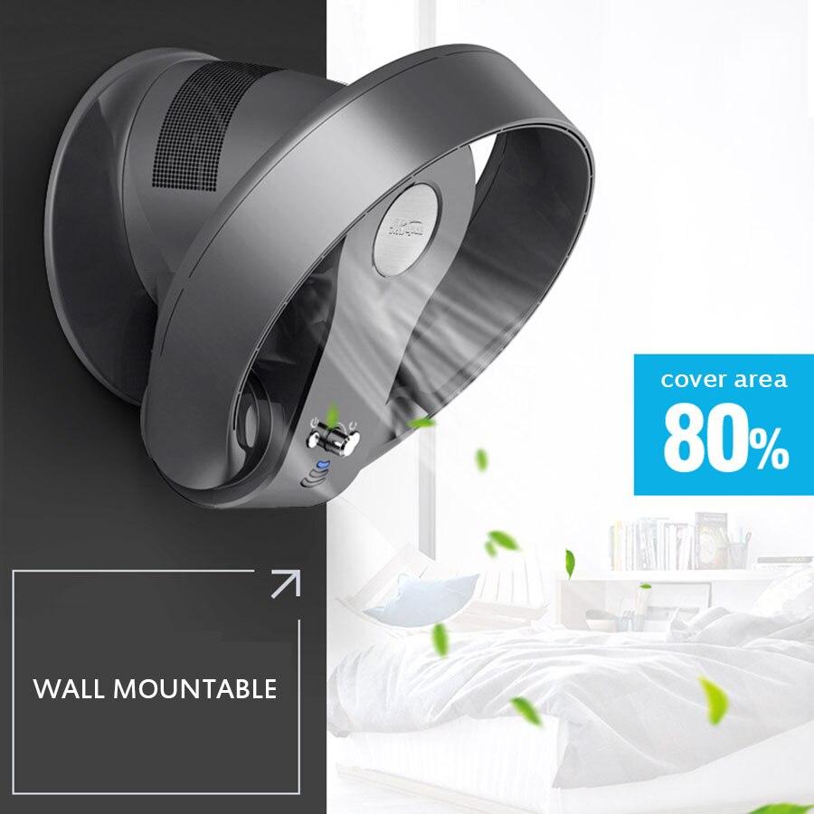 2019super silencioso velocidade variável não-lâmina bladeless fan home office tem a função de sincronismo remoto ventilador de dobramento 12 polegadas