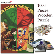 MOMEMO Gaara and Naruto Jigsaw 1000 Pieces Puzzle Wooden Puzzles Cartoon Anime NARUTO Pattern Games for Kids