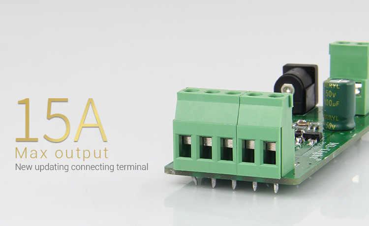 DC12 ~ 24 V mi-light RGBW LED contrôleur de bande Max Putout 15A 2.4G Smartphone APP/télécommande pour 3528 5050 RGBW LED lumière de bande