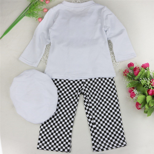 Image 2 - Baby Boy Girl Carnival Cook Chef Halloween Cosplay Outfits Baby Cook Chef Kitchen Uniform T shirt Pants Hat Photography Costume