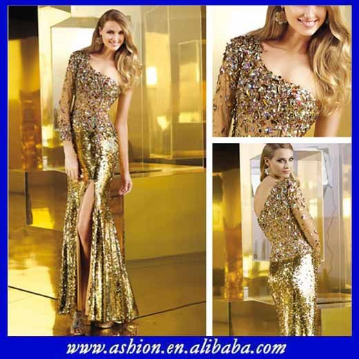 576eca17ae88 ED-0854 Rhinestone long evening prom dress gold sequin floor length gowns  gold evening dress malaysia online shopping