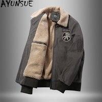 AYUNSUE Men's Winter Jacket Parka Hombre Plus Size Coat Men Clothes 2020 Casual Short Parkas Vintage Winterjas Heren KJ876