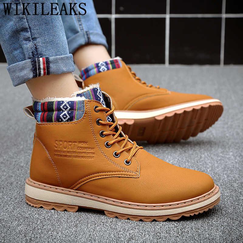 ข้อเท้ารองเท้าบูทรองเท้าหนังรองเท้ารองเท้า boots รองเท้าผู้ชายฤดูหนาวรองเท้าสบายๆรองเท้าผู้ชายหรูหรายี่ห้อ zapatos de seguridad buty
