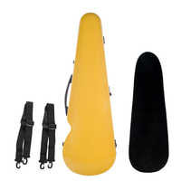 4/4 Size Violin Fiddle Storage Case Box Gig Bag with Strap Yellow Waterproof Comfortable Stringed Instruments Accessories