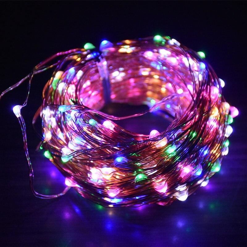 1X20M 200 Led EU Plug 12V AC Copper Wire Led String Fairy Lights Include US/UK/AU/EU Adapter For Holiday Christmas Wedding Party