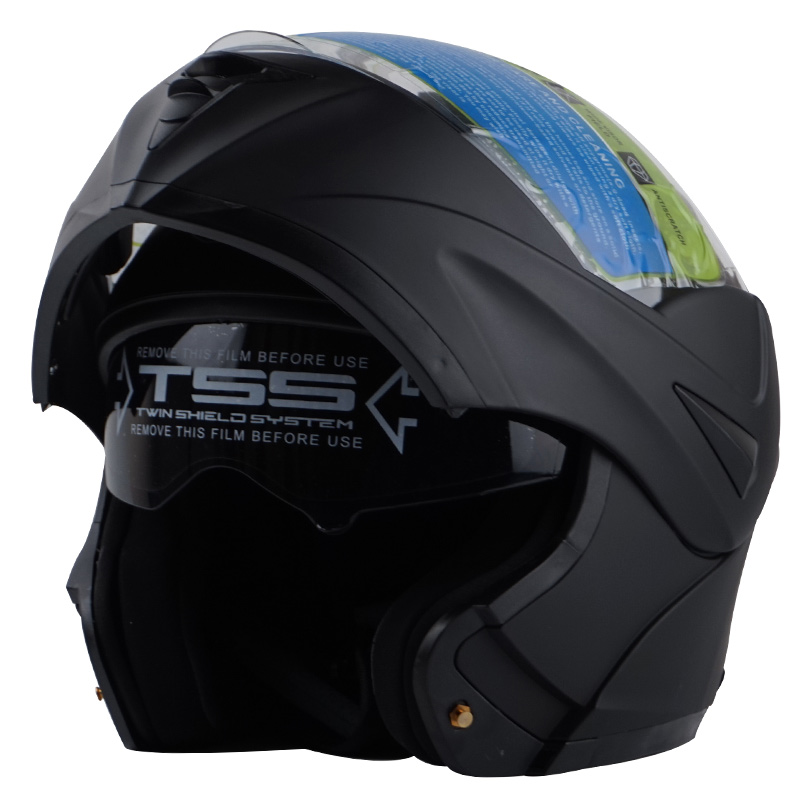 VCOROS Flip Up Motorcycle Helmet with inner double lens full face motorbike helmet Modular motos helmet DOT approve