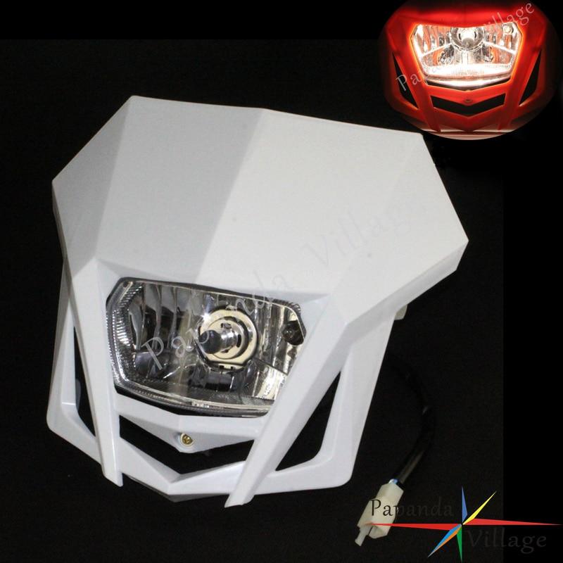 Papanda Universal Dual Sport Motorcycle Headlight Dirt Bike Head Lamp Motocross For HONDA XR CRF 150 230 250 450