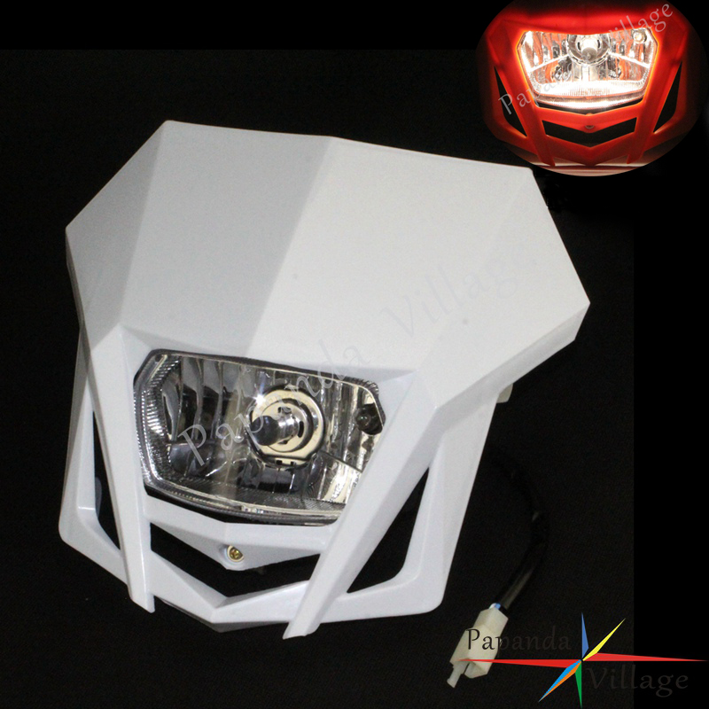 Papanda Universal Dual Sport Motorcycle Headlight Dirt Bike Head Lamp Motocross for HONDA XR CRF 150 230 250 450
