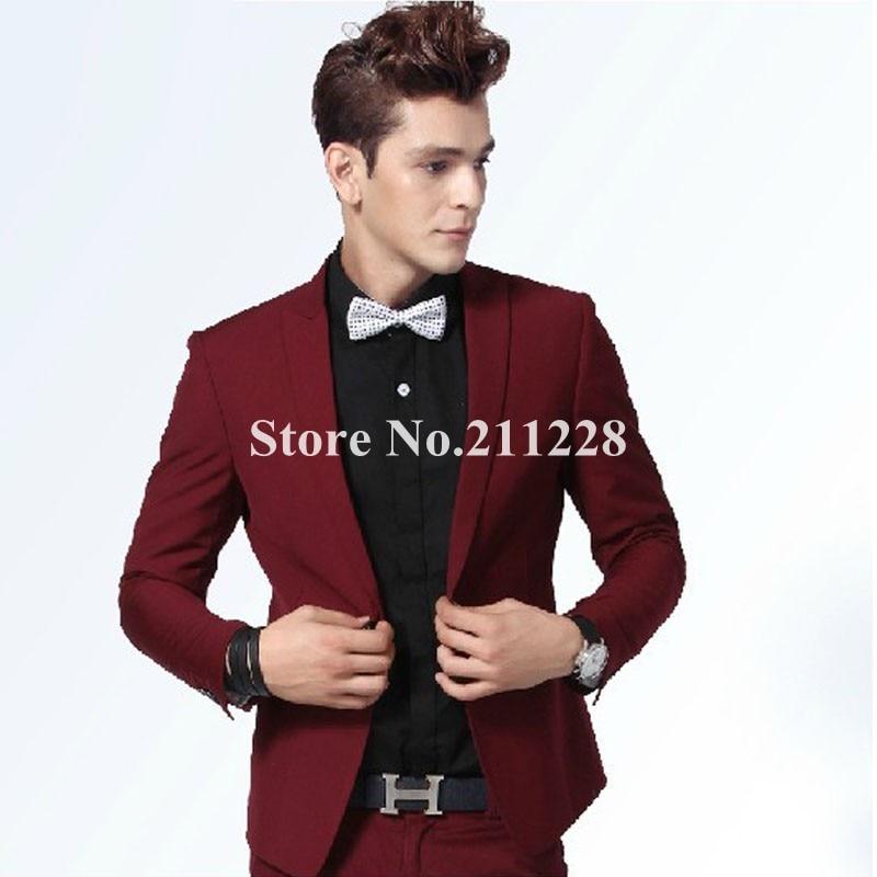 Aliexpress.com : Buy 2013 spring autumn men's formal red blazer ...