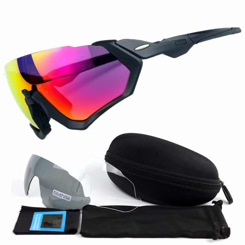 55158af6c9 3 Lens 2018 Polarized Cycling Sunglasses Men Outdoor Sport Bike Glasses  Bicycle Sunglasses Cycling Glasses Cycling