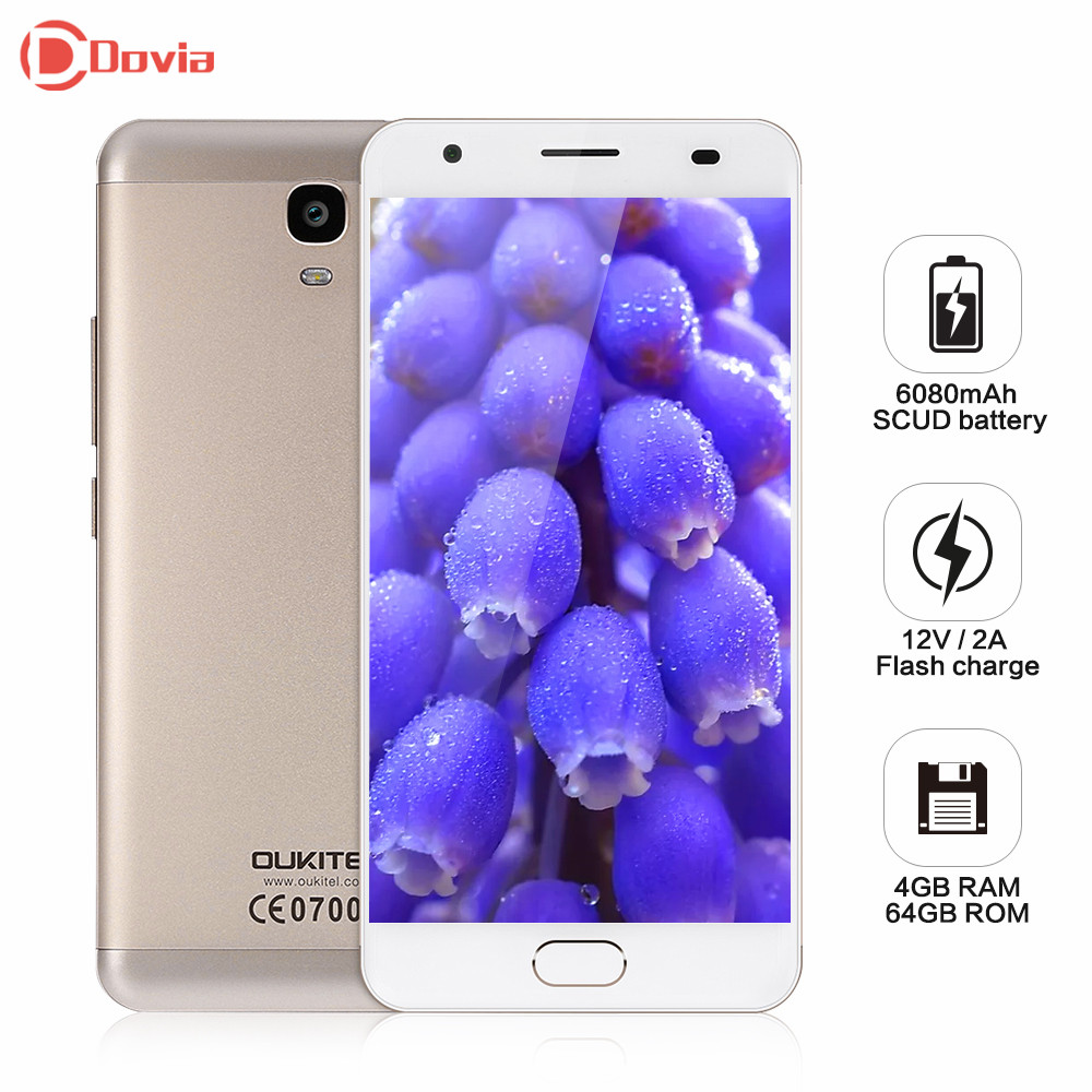 OUKITEL K6000 Plus 12V 2A Flash Charge Phone Android 7 0 MTK6750T Octa Core 4GB RAM