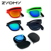 1b44356633 Original Box Men Goggles UV400 Sun Glasses Folded Brand Design Mirror  Shades Foldable Sunglasses Folding Glasses