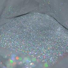 50 г, 0,2 мм (1/128 дюйма), 008 дюйма, тонкая голографическая цветная серебряная пудра с блестками для дизайна ногтей, Шестигранная форма для украшения ногтей