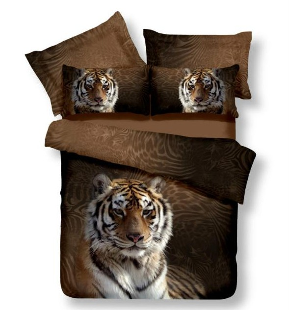 Tiger Bedding Sets Queen Size 3d 100 Cotton Bed Sheets