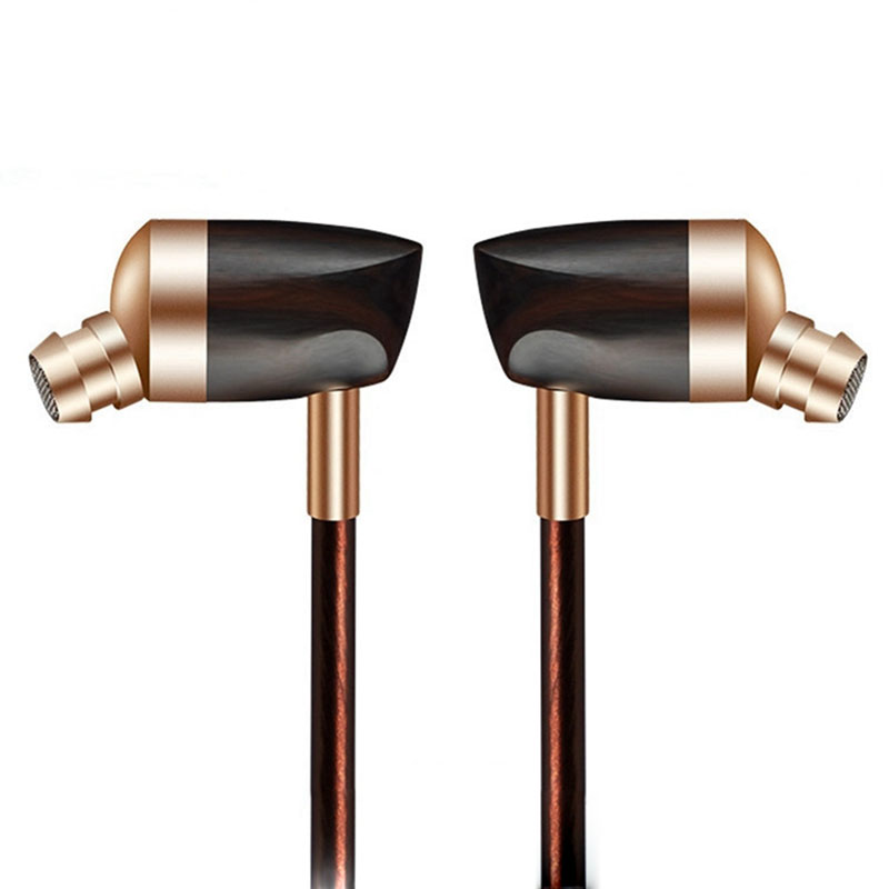 New Portable Line Type DIY Style B3 Wired Dynamic Earbuds In-Ear Earphone Wooden Headphone for Android IOS Computer iPod iPad  new 3 5mm in ear wired earphone