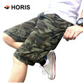 2017 New 100% Cotton Men's Cargo Shorts Plus Size Fashion Many Pockets Camouflage Shorts Homme H038
