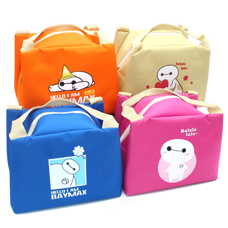 Cute Cartoon font b Lunch b font Storage font b Bags b font Oxford Waterproof Picnic