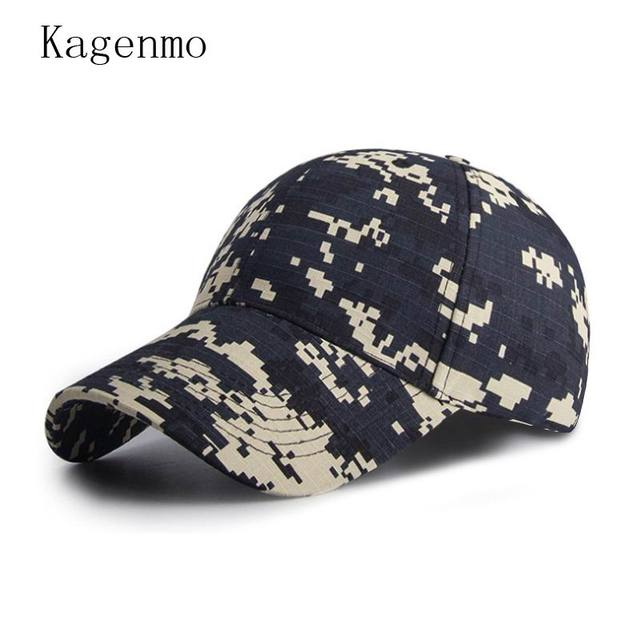 089fd033f05 Kagenmo Spring Camouflage Unisex Baseball Cap Spring Men Outdoor Stroll Sun Hat  Thin Cotton Female Sports Hats Adjustable 10pcs