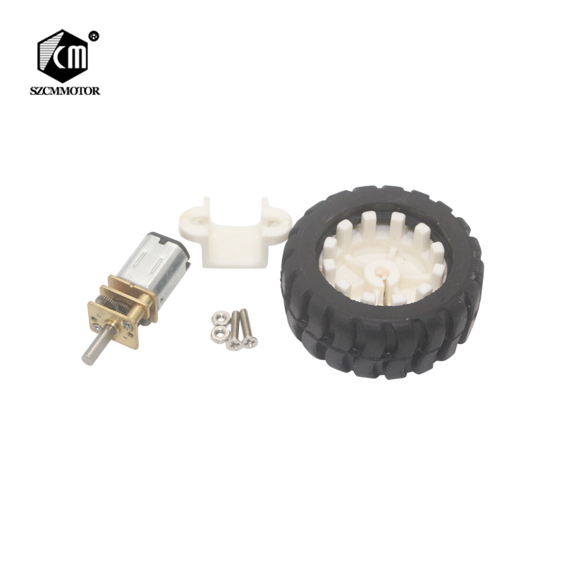 <font><b>N20</b></font> Mini Geared Motor with <font><b>Wheel</b></font> Kit For DIY Robot image
